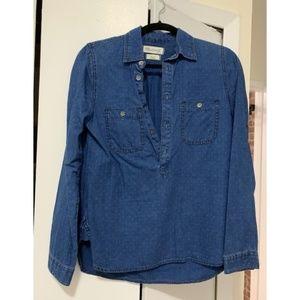 Madewell Dotted Denim Shirt
